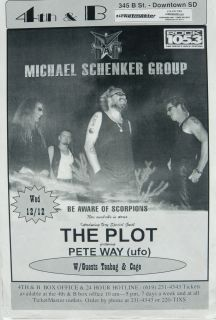 MICHAEL SCHENKER GROUP 2001 SAN DIEGO CONCERT TOUR POSTER  U.F.O., The