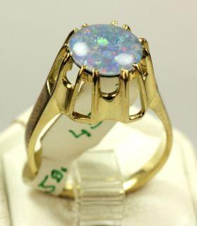 Gold 585 Ring mit Opal Rw ca 57 aus Juweliersnachlaß 4,9 Gr