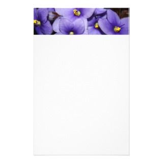 Violet Boquet Personalized Stationery