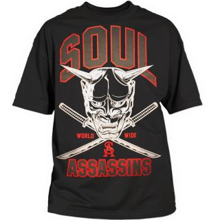 Soul Assassins   SA Worldwide Tee   Schwarz / Neu & OVP