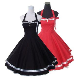 50er 60er vintage stil Pin up Tanz Kleid z. Petticoat Rockabilly
