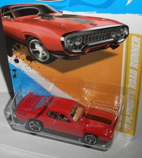 2012 New Models ´71 PLYMOUTH ROAD RUNNER  red  164 Hot Wheels