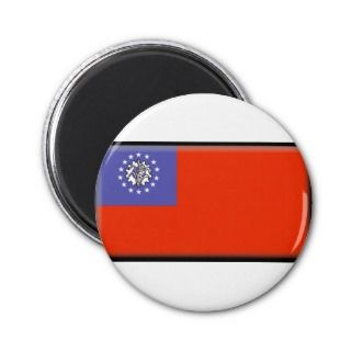 Burma (Myanmar) Flag Magnets
