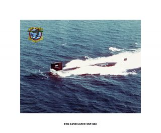 USS SAND LANCE SSN 660   Nuclear Attack Submarine , USN Navy Photo