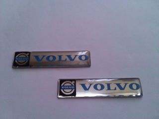 PAIR GEL VOLVO CAR STICKER LOGO PAIR