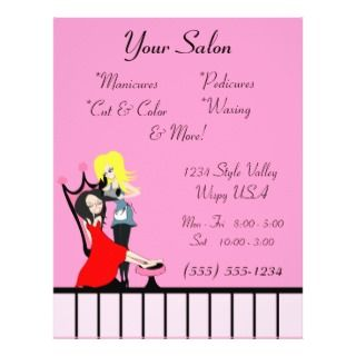 Beauty Salon & spa beauty tear off leaflets Full Color Flyer