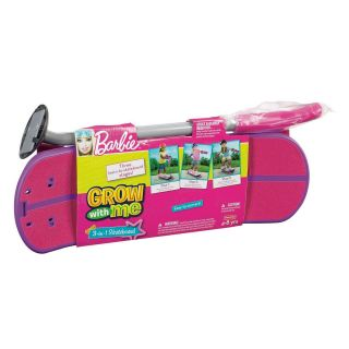 Fisher Price Grow With Me 3 in 1 Pink Barbie Kids Skateboard Scooter