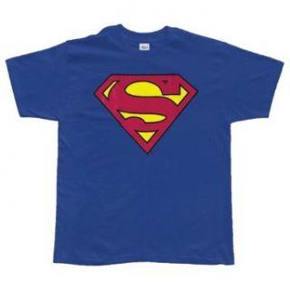 Superman   Classic Logo Erwachsene / Kinder T Shirt in Royal Blue