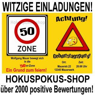 jpeg, 20 WITZIGE EINLADUNGSKARTEN 40 50 70 Geburtstag Einladungen ...