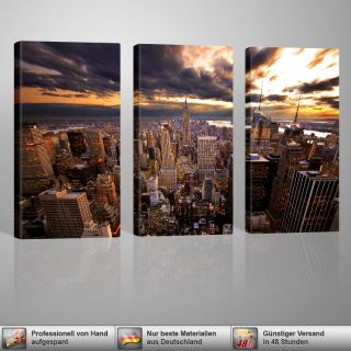 Pull LEINWANDDRUCK 3x 40x80cm GALVII New York City Bild