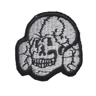 GERMAN ARMY TOTENKOPF SKULL CAP BADGE PATCH   WW2 REPRO