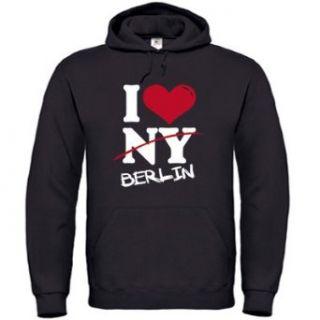 LOVE BERLIN   NOT NY   Herren Hoodie Kapuzensweatshirt Gr. S bis XXL