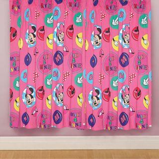 Vorhang Disney Minnie Mouse Mädchen Kinderzimmer 168x183cm Gardine