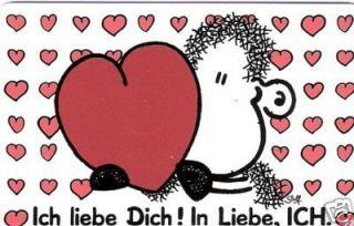 SHEEPWORLD Pocketcard 72 Ich liebe Dich  *NEU*