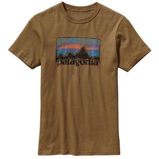 Patagonia Mens Vintage 73 Fitz Roy Logo Tee Shirt Vintage Gold Size
