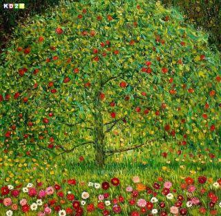 Gustav Klimt der Apfelbaum g76906 80x80 CM Jugendstil Ölgemälde