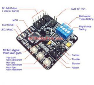 EAGLE N6 Multicopter Controller Board Aero Copter/ Dual/ Tri/ Quad+