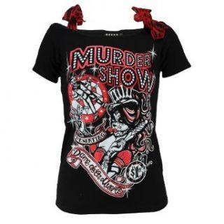 Too Fast Brand Shirt ANNABEL MURDER SHOW black Bekleidung