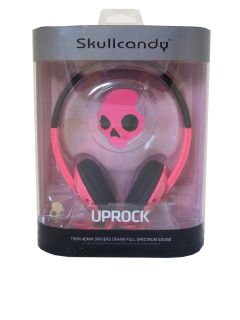 Skullcandy Uprock On Ear Headphones in Pink Black