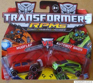 HASBRO® 89815 Transformers RPM´s Mudflap Vs. Autobot Skids NEU! TOP