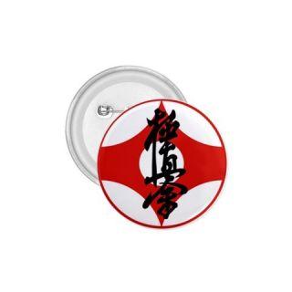 Karate Kyokushin Kanji Logo Pin Button Pinbacks 1.75