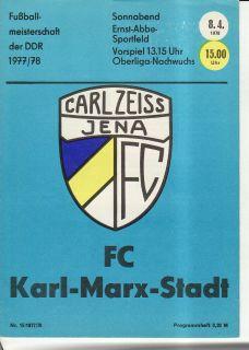 OL 77/78 Carl Zeiss Jena   Karl Marx Stadt