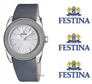Damenuhr Klassik Leder Anthrazit Damen Uhr neu UVP 89€