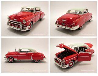 Chevrolet Bel Air 1950 rot/weiß, Modellauto 124 / Motormax