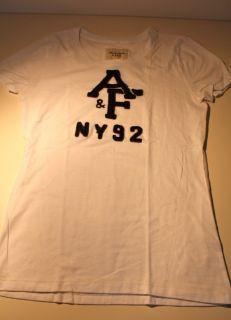 Abercrombie & Fitch T Shirt   weiß   mit Print   Größe L