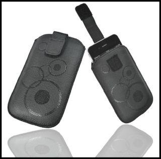 Handy Zug Tasche Schutzhülle Für HTC Radar in Black Etui Case Cover