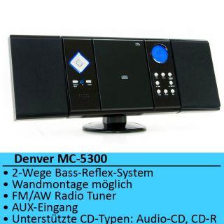 Vertikalanlage CD Player Radio Tuner AUX Stereoanlage Musikcenter