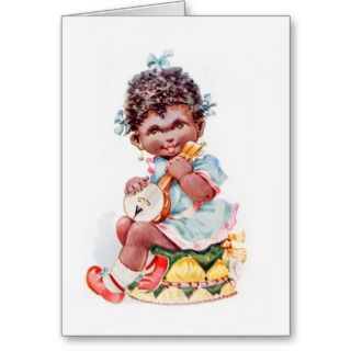 Cards, Note Cards and African American Vintage Greeting Card Templates