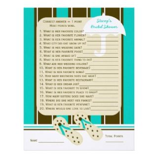 or Wedding Shower Party Game Letterhead Template