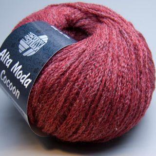 Lana Grossa Alta Moda Cocoon 005 dunkelrot meliert 50g Wolle