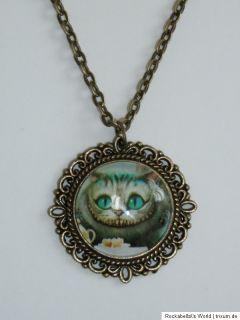Kette Grinsekatze Alice im Wunderland Tea Time Cheshire Cat Wonderland