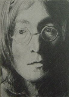 Coalburn ORIGINAL art pencil sketch card aceo John Lennon Beatles