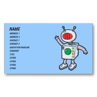 Science Fiction Sci Fi Cartoon Business Card Template