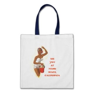 RETRO SUMMER BEACH BAGS TOTE BAG TEMPLATE WORDS