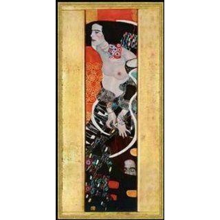 Bild mit Rahmen Gustav Klimt, Gustav Klimt, Salome, 49 x 105   Holz