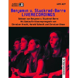 Liferecordings. Audiobook. Cassette Benjamin von Stuckrad