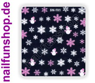 3D Design Nail Sticker SN 101 Christmas Nagelsticker selbstklebend