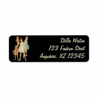 Customizable Vintage Fashion Return Address Label