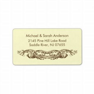 Vintage Ornate Flourish Address Label