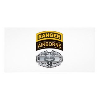 Combat Medic Badge, Ranger/Airborne Tabs Photo Cards