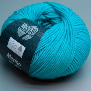 Lana Grossa Merino superfein Cool Wool 502 capri blue 50g Wolle