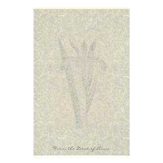 Botanical Iris Flower Art Handmade Paper Stationer Stationery Paper
