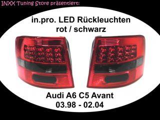 in.pro. LED Rückleuchten rot schwarz Audi A6 Avant Typ C5 03.98 02.04