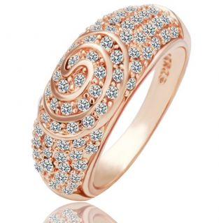 Goldschmuck Schmuck 750/18K Rose Gold vergoldet Damen Zirkon Ring 18