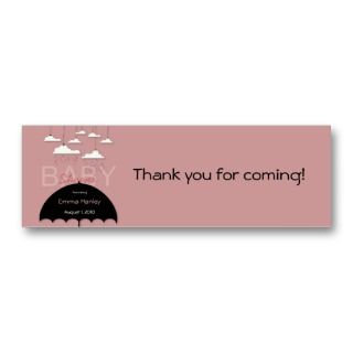 Umbrella Baby Shower Favor Tag Business Card