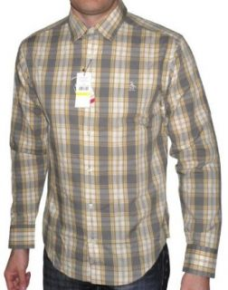 Original Penguin Herren Long Sleeve Check Shirt Honig Gold